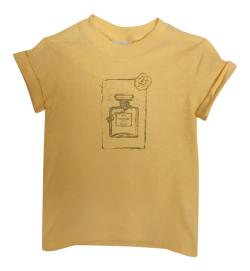 LITTLE GIRL'S COUTURE TEE- MUSTARD
