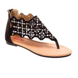 Girls' Josmo O-32072 Black Thong Sandal