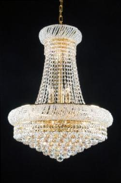 New! French Empire Crystal Chandelier Gold 15 Lights
