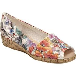 Women's Aerosoles Sprig Break White Floral Perfed Leather
