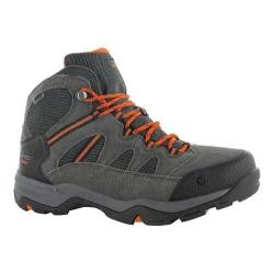 Men's Hi-Tec Bandera II Mid Waterproof Boot Charcoal/Graphite/Burnt Orange Suede/Synthetic