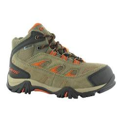 Boys' Hi-Tec Logan Waterproof Hiking Boot Smokey Brown/Red Rock Suede