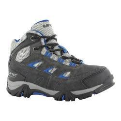 Boys' Hi-Tec Logan Waterproof Hiking Boot Charcoal/Grey/Cobalt Suede
