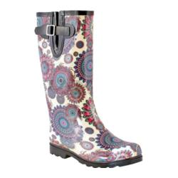 Women's Nomad Puddles Boot Blue/White Flower Burst