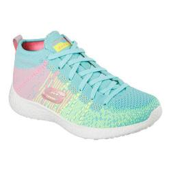 Women's Skechers Burst Sweet Symphony High Top Turquoise/Multi