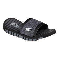 Women's Skechers GO FLEX Rely Slide Sandal Black/Gray