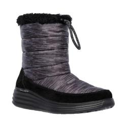 Women's Skechers Halo Glory Mid Calf Boot Black/Charcoal