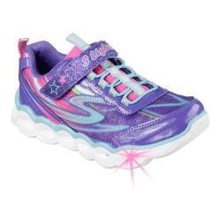 Girls' Skechers S Lights Lumos Sneaker Purple Multi