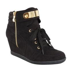 Girls' Wild Diva Peggy-53K Ankle Boot Black Faux Suede