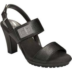 Women's Aerosoles Foliage Sandal Black Faux Leather