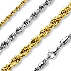 Italian Rope Chain Necklaces 316L Stainless Steel