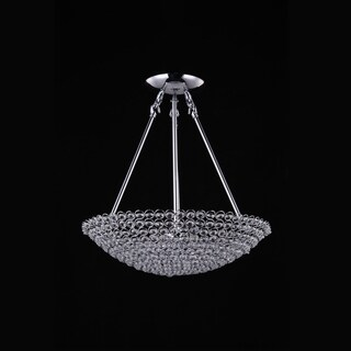 Joshua Marshal 7018-001 8-Light Chrome Pendant with Clear European Crystals