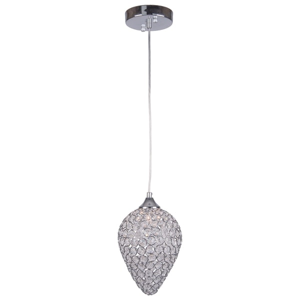 Joshua Marshal 7009-0011-Light Chrome Mini Pendant with Clear European Crystals