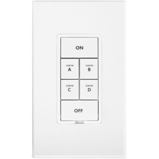 Insteon Keypad Dimmer Switch (Dual-Band), 6-Button, White
