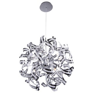 Joshua Marshal Home Collection 12 Light Chrome Ribbon Pendant with Crystal Accents