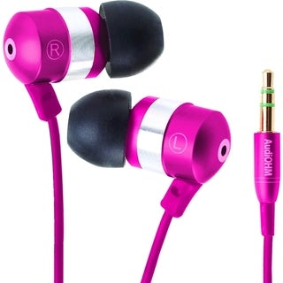 GOgroove AudiOHM Earbuds: Pink