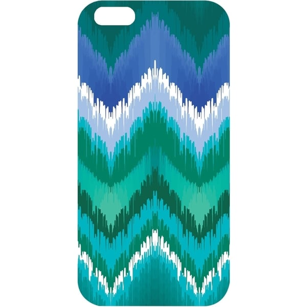 OTM iPhone 6 White Glossy Case Bold Collection, Teal/Blue