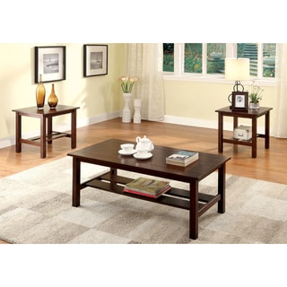 Furniture of America Renia Dark Cherry 3-Piece Accent Table Set