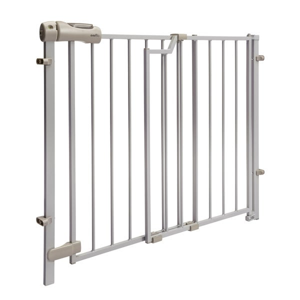 Evenflo Taupe Easy Walk Thru Top of Stair Metal Gate