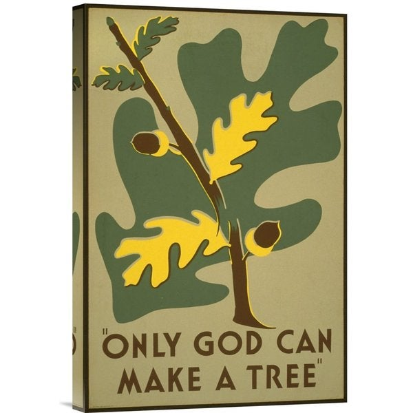 Stanley Thomas Clough 'Only God Can Make a Tree, 1938' Stretched Canvas Art