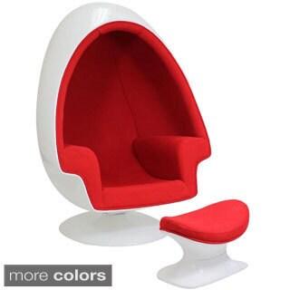 Lexington Modern Eero Aarnio Alpha Shell Egg Chair and Ottoman