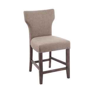 Signature Design by Ashley Glosco 24-inch Upholstered Two-Tone Brown Bar Stool (Set of 2)
