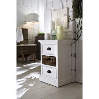 Mahogany Bedside Storage Unit with basket