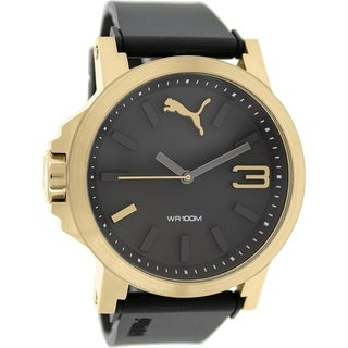 Puma Men's Ultrasize 45 PU103462013 Black Rubber Analog Quartz Watch