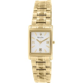 Bulova Women's 97M102 Goldtone Stainless Steel Quartz Watch