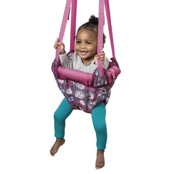 Evenflo ExerSaucer Pink Butterfly Door Jumper