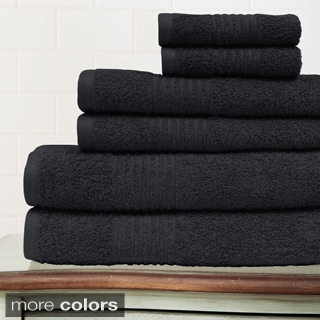 Egyptian Cotton 6-piece Solid Towel Set