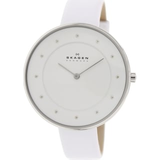 Skagen Women's Gitte SKW2136 White Leather Quartz Watch