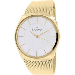 Skagen Men's Havene SKW6069 Goldtone Stainless Steel Textured Bracelet Watch