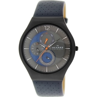 Skagen Men's SKW6149 Blue Leather Quartz Watch