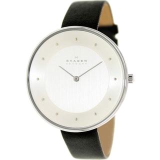 Skagen Women's SKW2232 Black Leather Quartz Watch