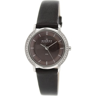 Skagen Women's 804SSLD Brown Leather Quartz Watch
