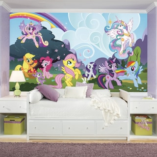 Roomates My Little Pony Ponyville XL Chair Rail Prepasted Mural