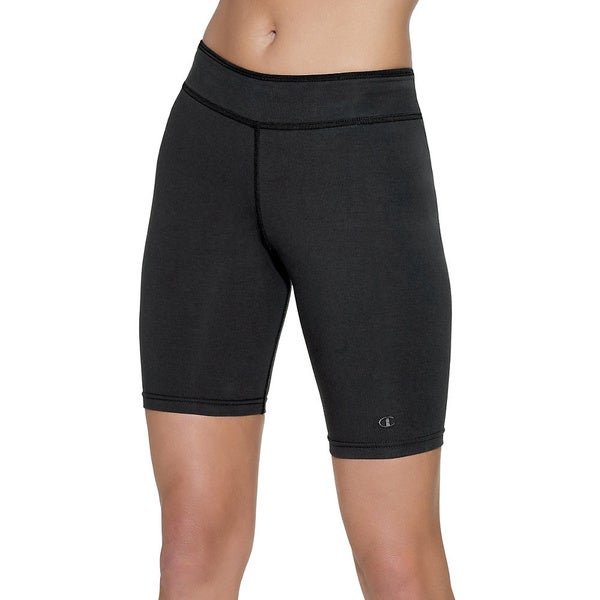 Champion Women's Plus-size Cotton Stretch Fitted Shorts