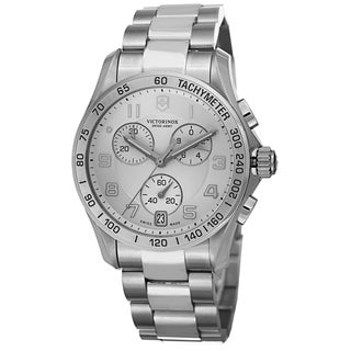 Swiss Army Men's V251499 'Chrono Classic' Silver Dial Stainless Steel Quartz Watch
