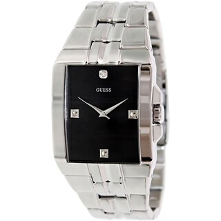 Guess Men's U10014G1 Black Stainless Steel Quartz Watch