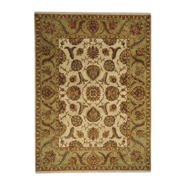 Rajasthan Thick and Plush Hand-knotted Wool Oriental Area Rug (9'1 x 12'3)