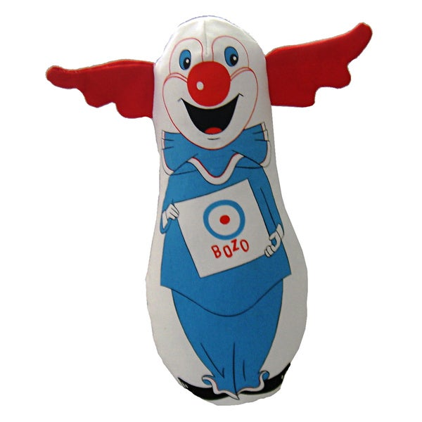 Multipet 9-inch Bozo the Clown Plush Dog Toy