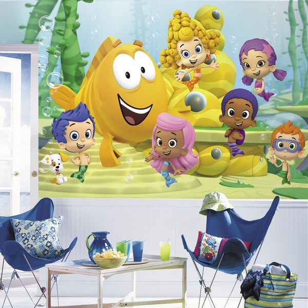 Roommates Bubble Guppies XL Chair Rail Prepasted Mural 14909909