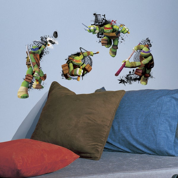 Roommates Teenage Mutant Ninja Turtles in Action Peel and Stick Giant Wall Decal 14909915