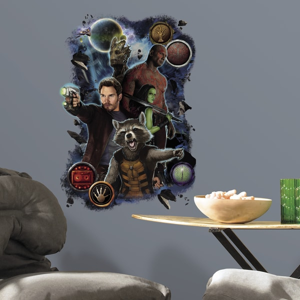Roommates Guardians of the Galaxy Heros Wall Graphix Peel and Stick Giant Wall Decal 14909941