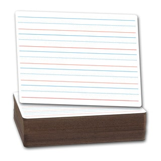 Flipside Red and Blue Ruled Dry Erase/ Plain Dry Erase Board (Pack of 24)