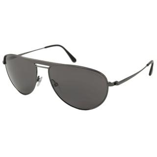 Tom Ford Men's TF0207 William Polarized/ Aviator Sunglasses