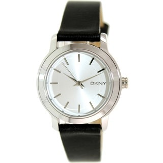 Dkny Women's Tompkins NY2269 Silvertone Leather Quartz Watch