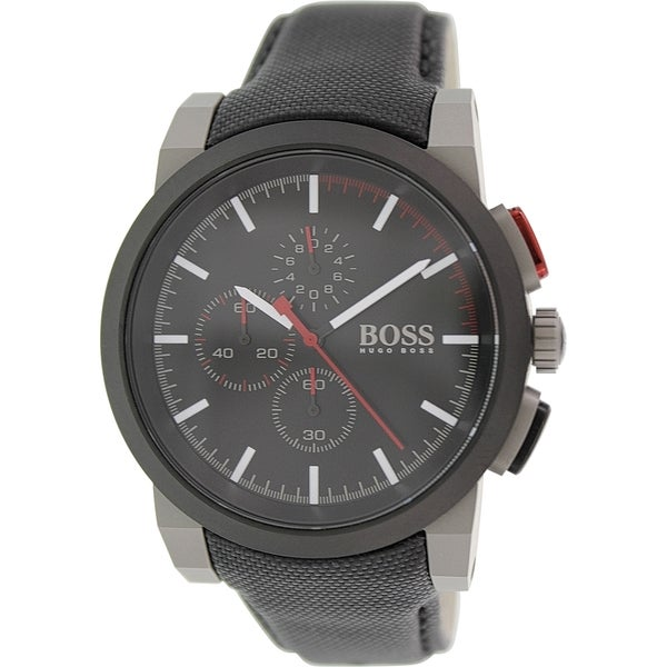 Hugo Boss Men's 1512979 Black Leather Quartz Watch