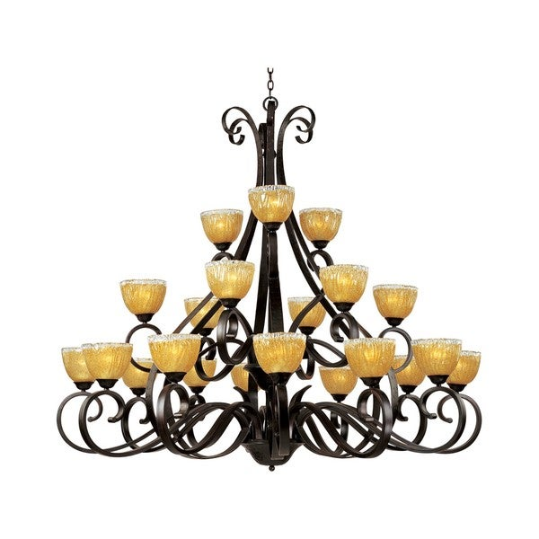 Barcelona Bronze 21-light Multi Tier Chandelier